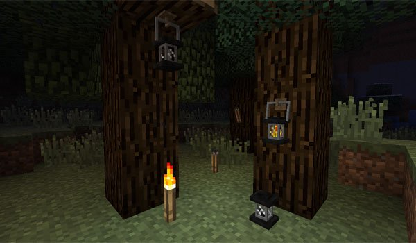Unlit Torches and Lanterns Mod for Minecraft 1.6.2 and 1.5.2