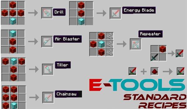 E-Tools Mod for Minecraft 1.6.2