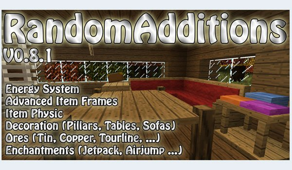 Random Additions Mod for Minecraft 1.7.2 and 1.7.10