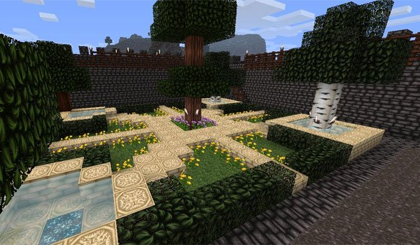 image of a small garden where we can see the result of the wolfhound 1.8.