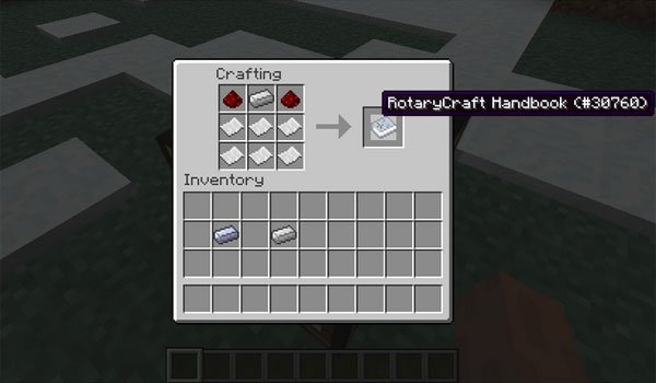 image which tells us how to create the guide, the rotarycraft mod 1.7.10.