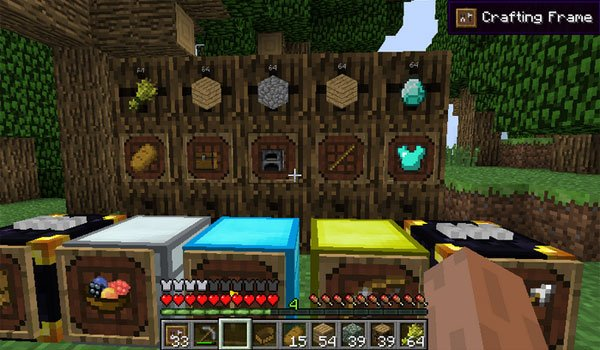 Super Crafting Frame Mod for Minecraft 1.7.2 and 1.7.10