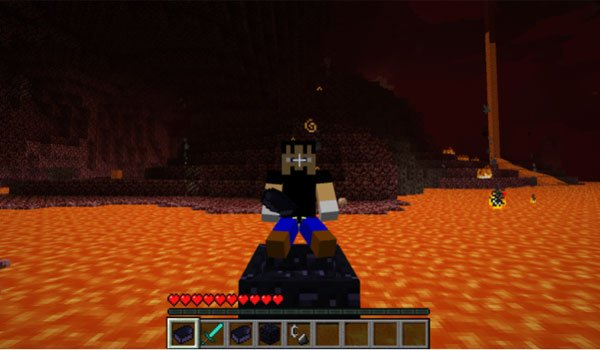 Obsidian Boat Mod for Minecraft 1.7.2 and 1.7.10