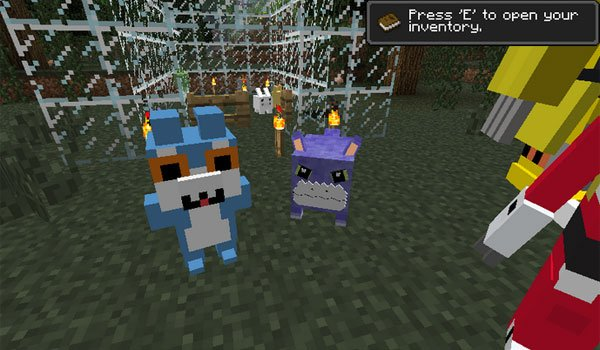 image of the new mobs that adds digimobs mod 1.7.10 and 1.7.2.