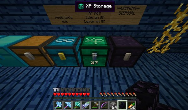XP Storage Chest Mod for Minecraft 1.7.2