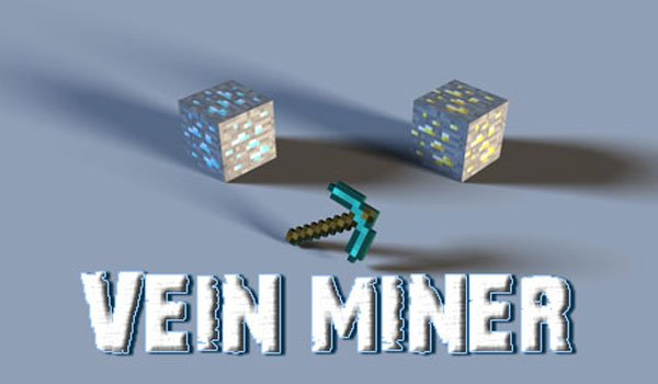 Vein Miner Mod for Minecraft 1.8 and 1.7.10