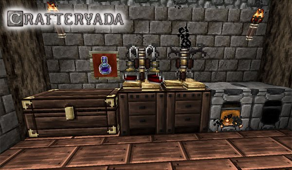 image we see some objects decorated with crafteryada texture pack 1.8.