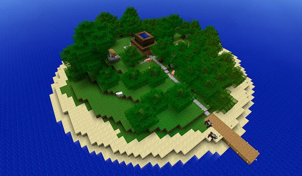 Escape Island Map for Minecraft 1.8