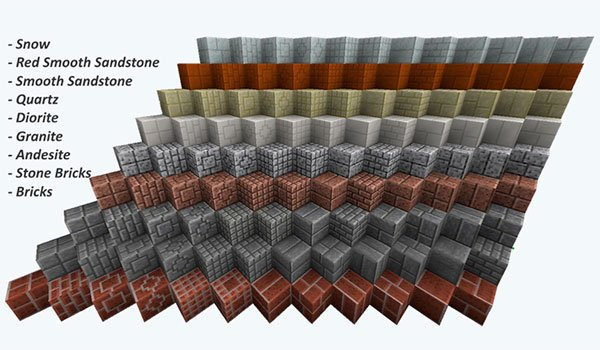 sample image where we can see the new designs of building blocks for Minecraft.
