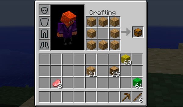 Inventory Crafting Grid Mod for Minecraft 1.8