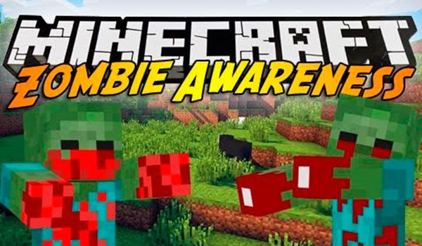 Zombie Awareness Mod for Minecraft 1.7.10 and 1.7.2
