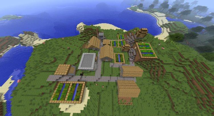 Minecraft 1 2 Seed: Village with Blacksmith - Villages