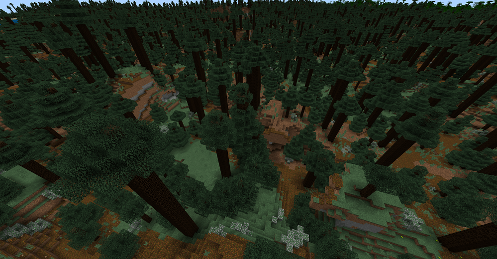 Forest of Giants - Minecraft PE Seeds