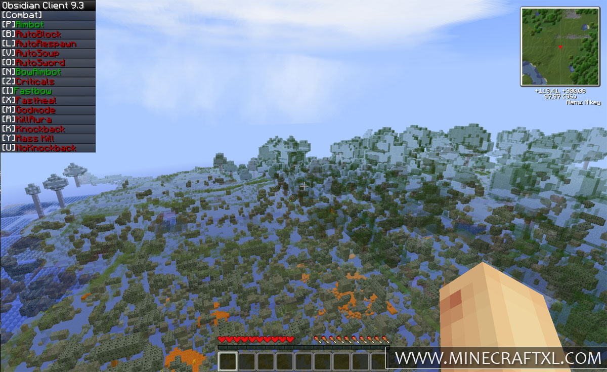 Download Obsidian Hacked Client For Minecraft 162