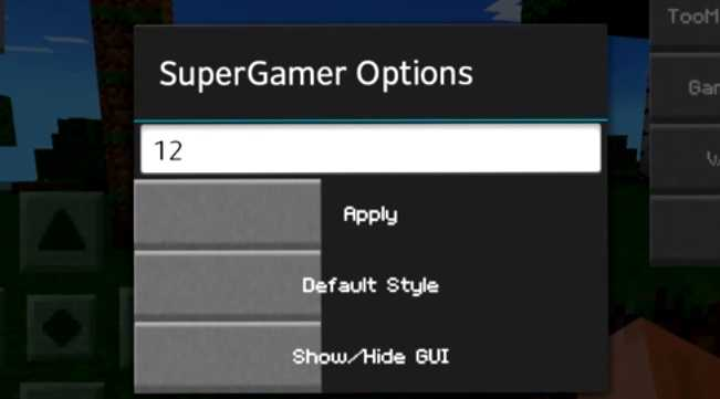 SuperGamer Mod 1.16.40/1.16.20/1.14.30/1.13.3