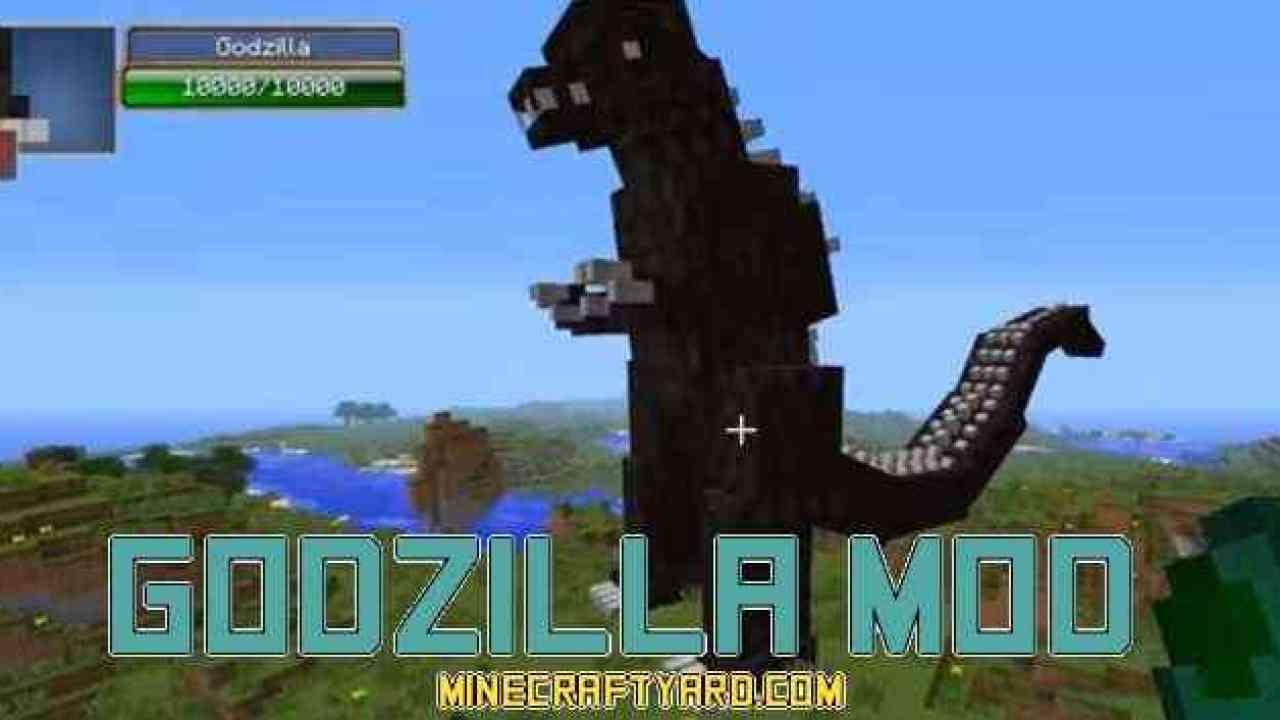 Godzilla Mod 1 17/1 16 5/1 15 2/1 14 4 for Minecraft Yard