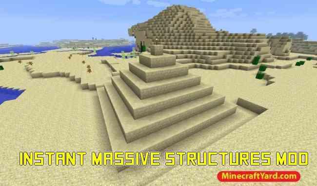 Instant Massive Structures Mod 1.14/1.13.2/1.12.2/1.11.2