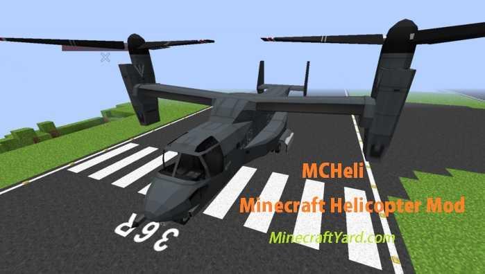MCHeli Minecraft Helicopter Mod 1.16.4/1.15.2
