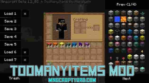 TooManyItems Mod 1.14/1.13.2/1.12.2/1.11.2
