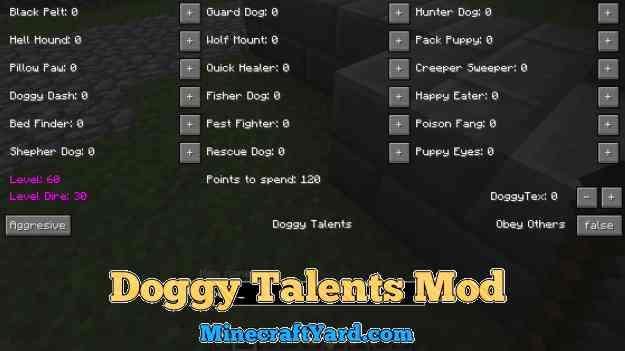 Doggy Talents Mod 1.16.5/1.15.2