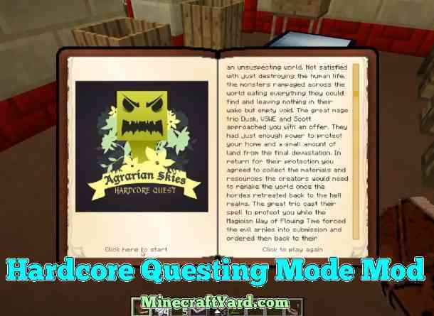 Harcore Questing Mode 1.14/1.13.2/1.12.2/1.11.2