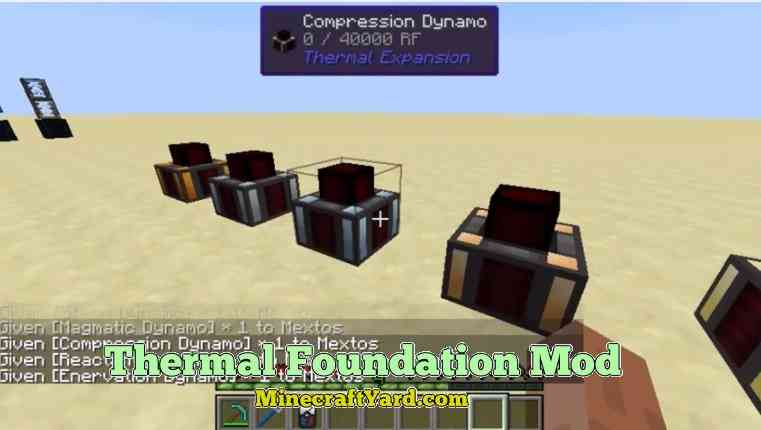 Thermal Foundation Mod 1.14/1.13.2/1.12.2/1.11.2