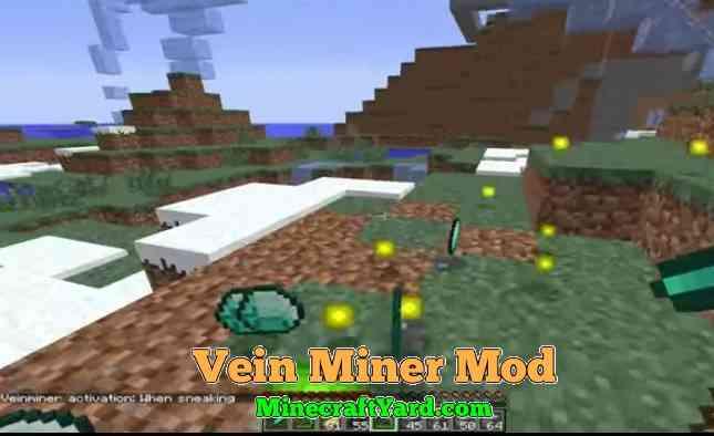 Vein Miner Mod 1.16.5/1.15.2