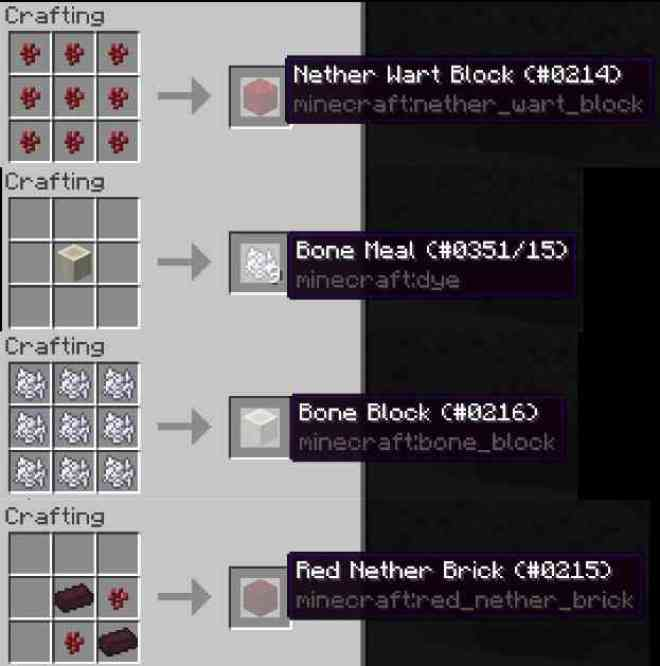 Four New Recipes Minecraft 1.10