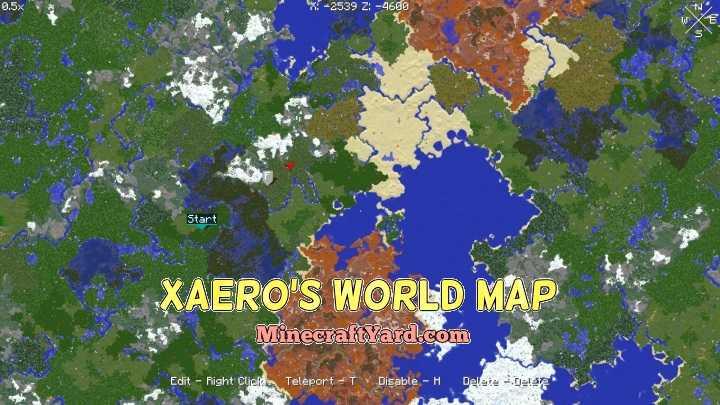 Xaero\'s World Map Mod 1.10.2/1.9.4/1.8.9 Download