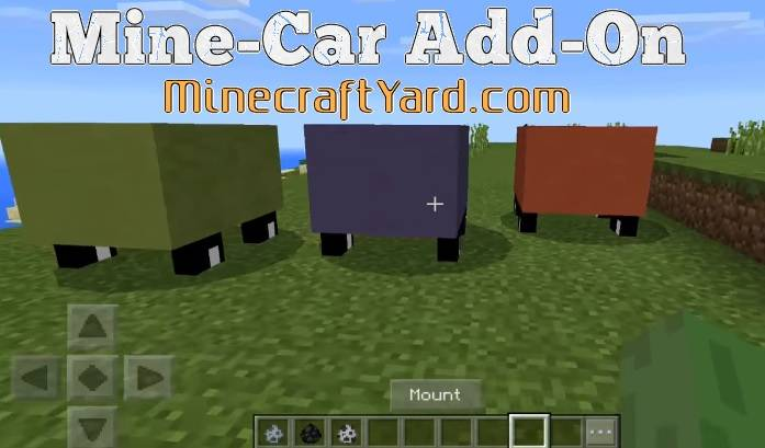 Mine-Car Add-on MCPE 1.14.30/1.13.3/1.12.1/1.11.4