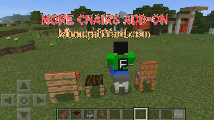 More Chairs Add-on MCPE and Win 10 1.14.30/1.13.3/1.12.1/1.11.4