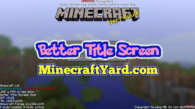 Better Title Screen Mod 1.16.2/1.16.1/1.15.2