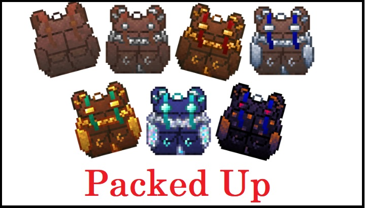 Packed Up Mod 1.16.2/1.16.1/1.15.2