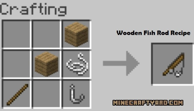 Just a few fish Mod wooden fish rod recipe