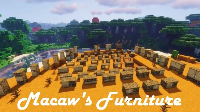 Macaw's Furniture Mod 1.15.2/1.14.4