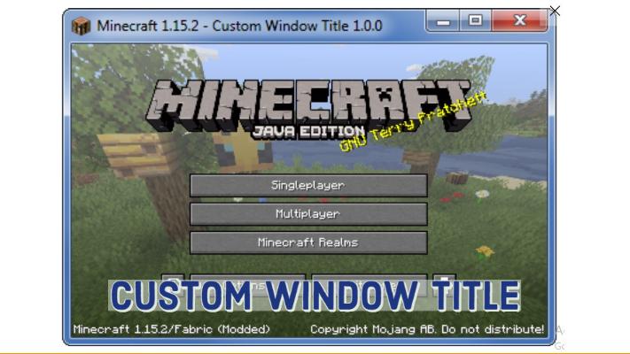 Custom Window Title 1.16.5/1.15.2