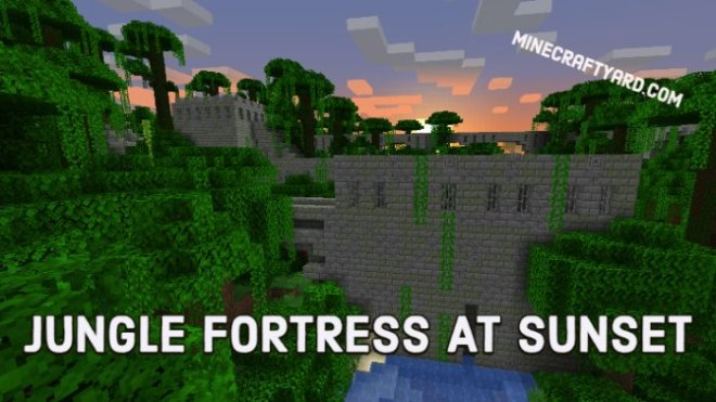 Jungle Fortress at sunset