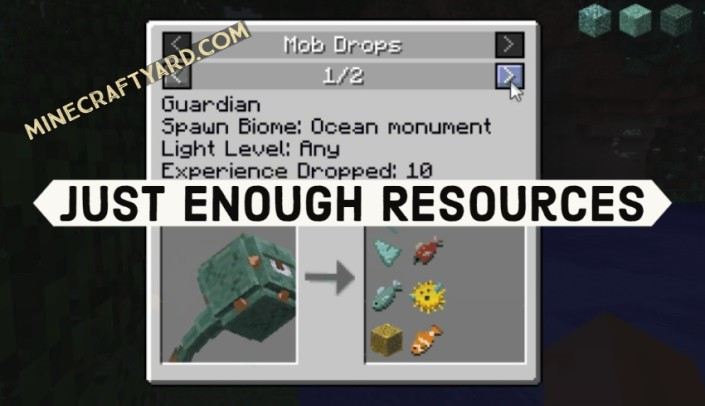 Just Enough Resources Mod 1.16.2/1.16.1/1.15.2