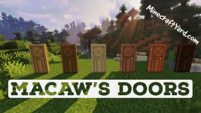 Macaw's Doors Mod 1.16.5/1.15.2