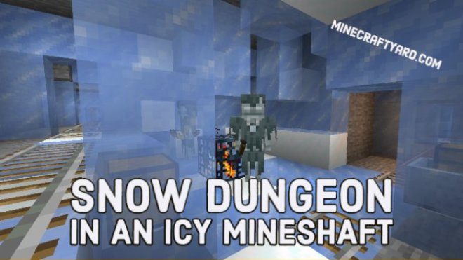 Snow Dungeon in an Icy Mineshaft