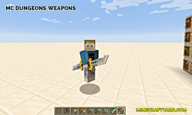 MC Dungeons Weapons Mod 3
