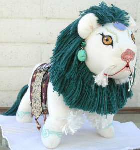 snow lion doll