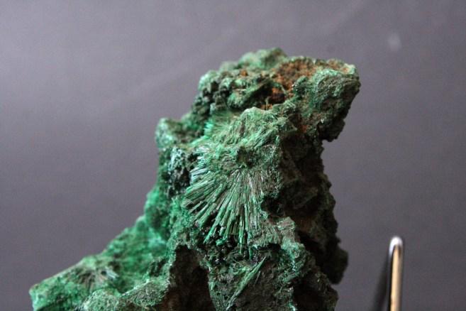 Igličasti kristali malahita