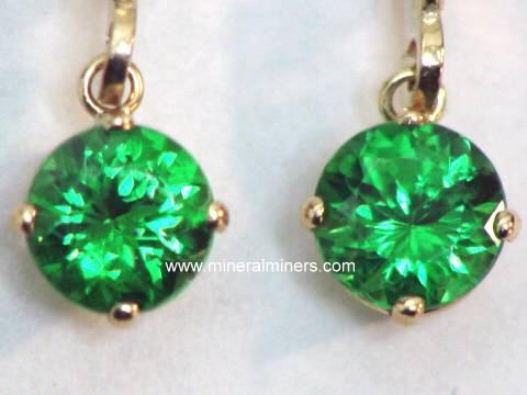 TSAVORITE GARNET Jewelry 14k Tsavorite Earrings