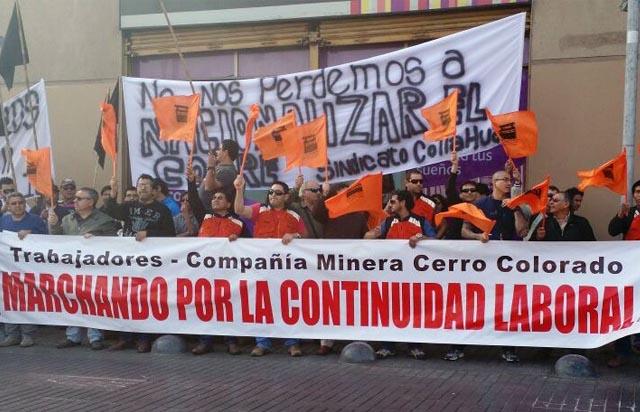 Trabajadores de Minera Cerro Colorado deponen huelga tras llegar a acuerdo