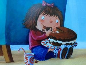 Nora inside cake