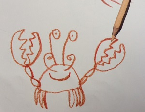 crab Dog Loves Drawing