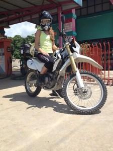 Abi biking Burma