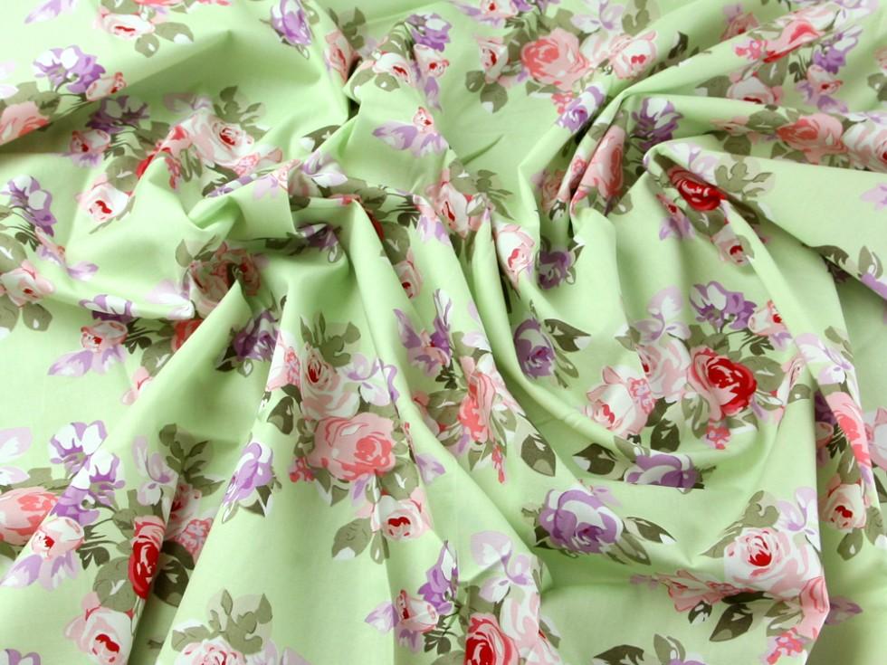 Green Floral Dress Fabric