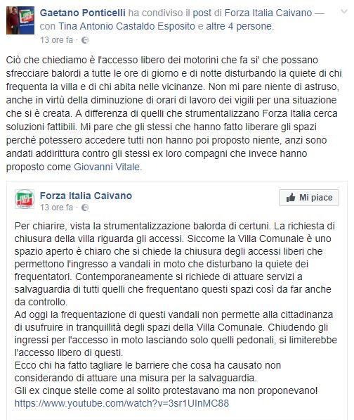 Post del Consigliere Ponticelli